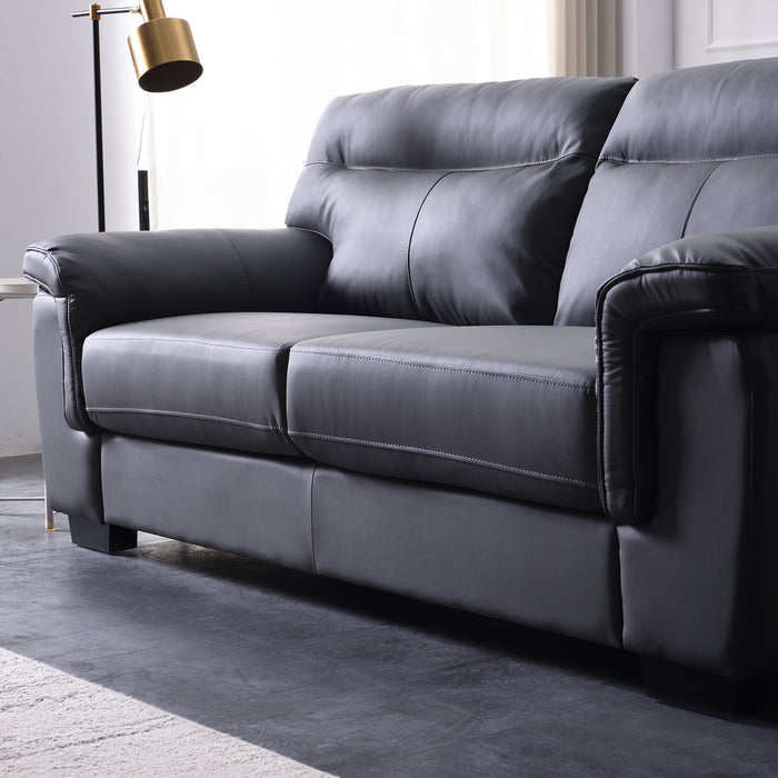Meriden sofa range in Grey PU Leather 8