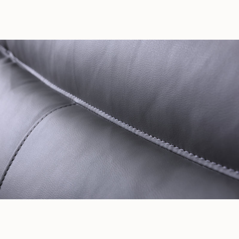 Meriden sofa range in Grey PU Leather 9