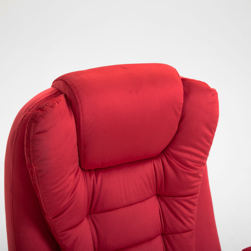 Cherry Tree Furniture Executive Recline Extra Padded Office Chair Standard, MO17 Red Velvet