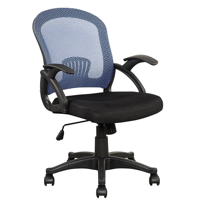 Mesh Style Fabric Padded Seat Office Chair, Blue