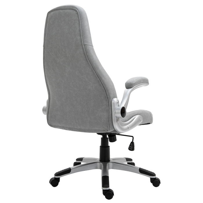 VIRIBUS X3 Faux Leather Gaming Chair with Adjustable Arms in Grey 6