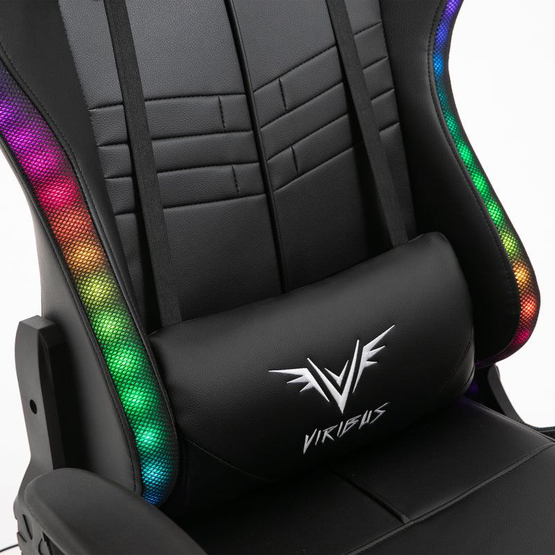 VIRIBUS X1 Office Gaming Chair with 12-Colour LED Light, Black