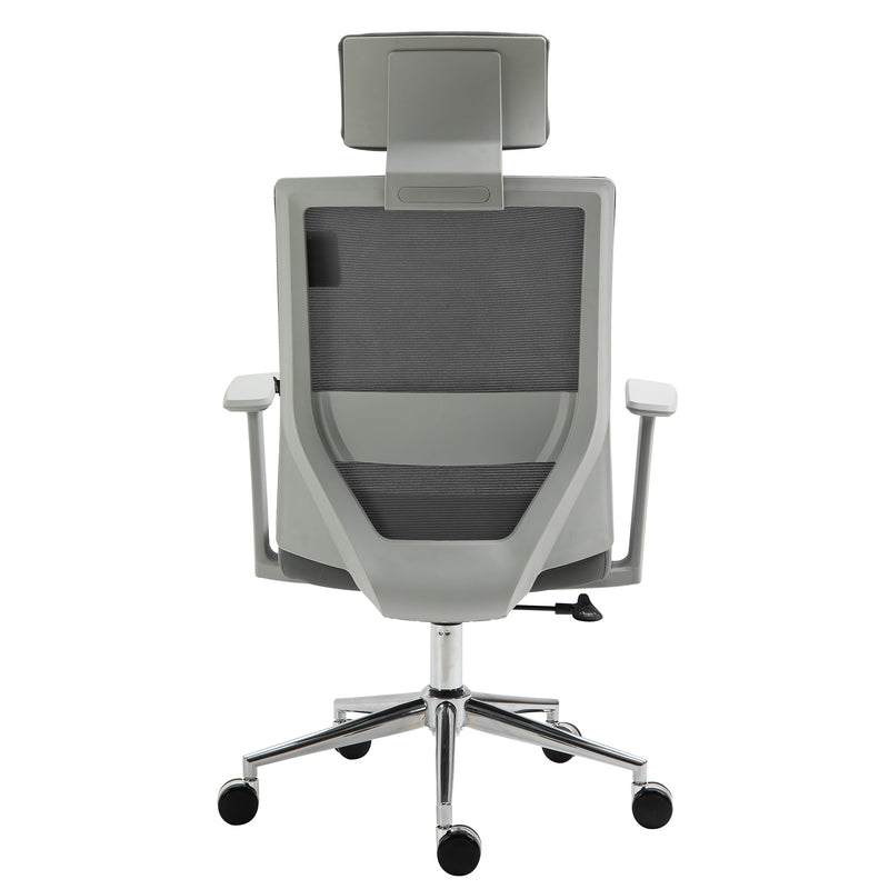 Joni High Back Mesh Office Chair with Headrest in Grey 4