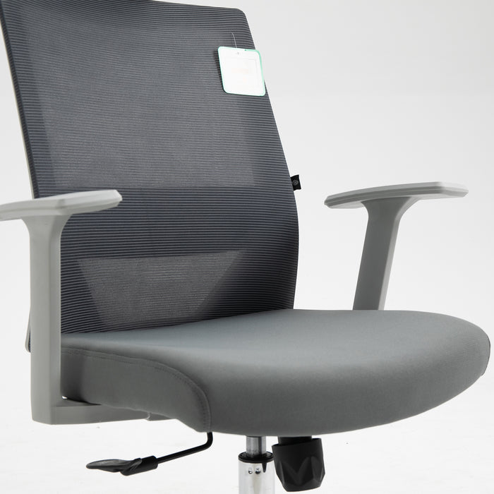 Joni High Back Mesh Office Chair with Headrest in Grey 7