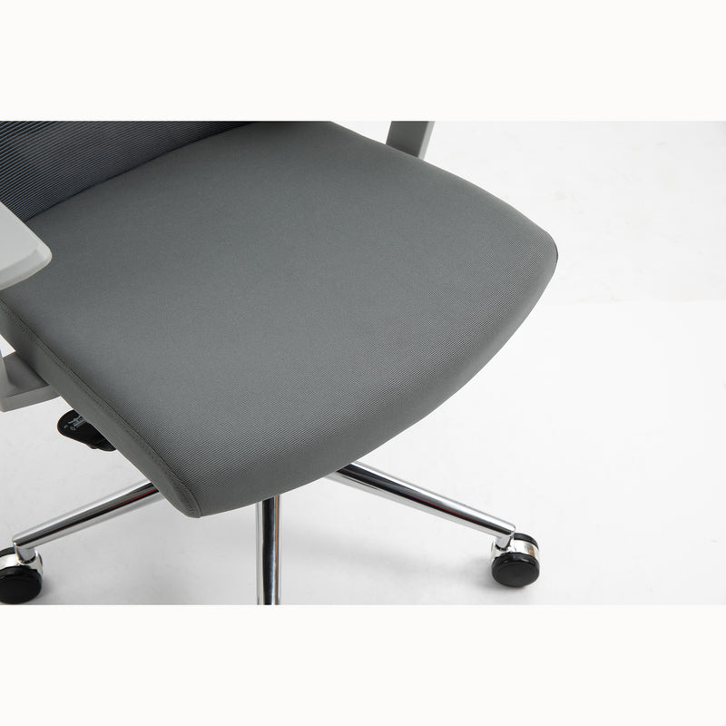 Joni High Back Mesh Office Chair with Headrest in Grey 8