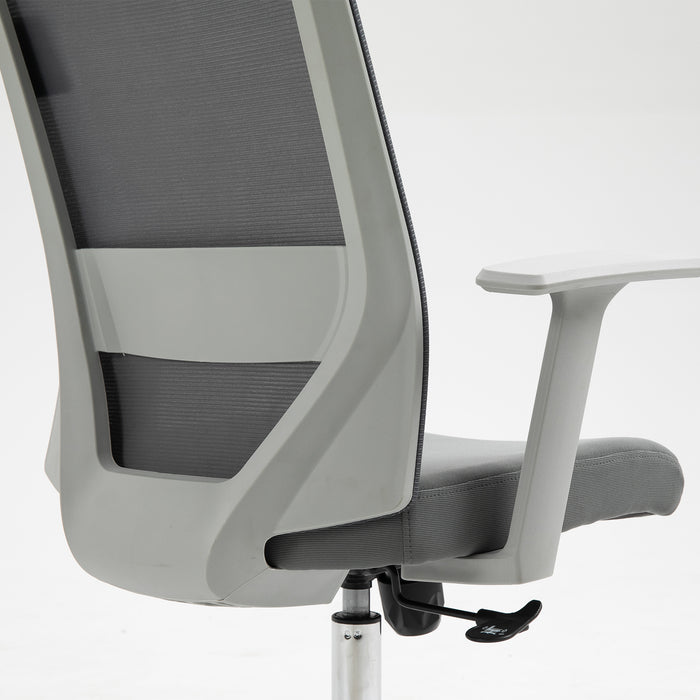 Joni High Back Mesh Office Chair with Headrest in Grey 9