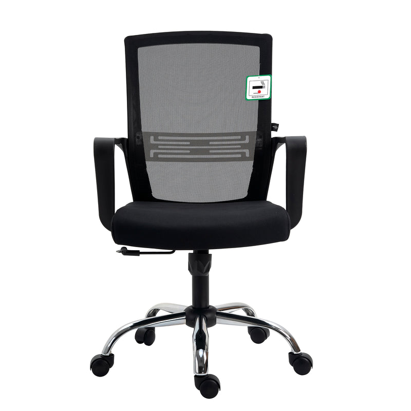 Haru Mid Back Mesh Office Chair in Black 2