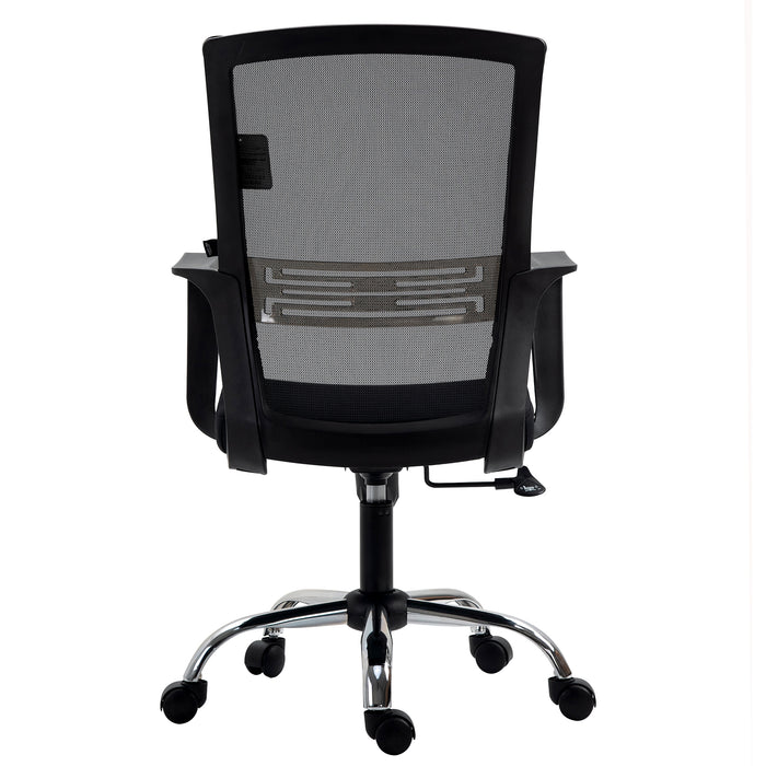 Haru Mid Back Mesh Office Chair in Black 4