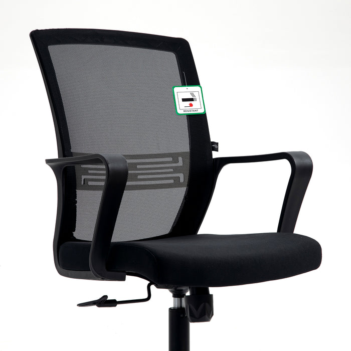 Haru Mid Back Mesh Office Chair in Black 6