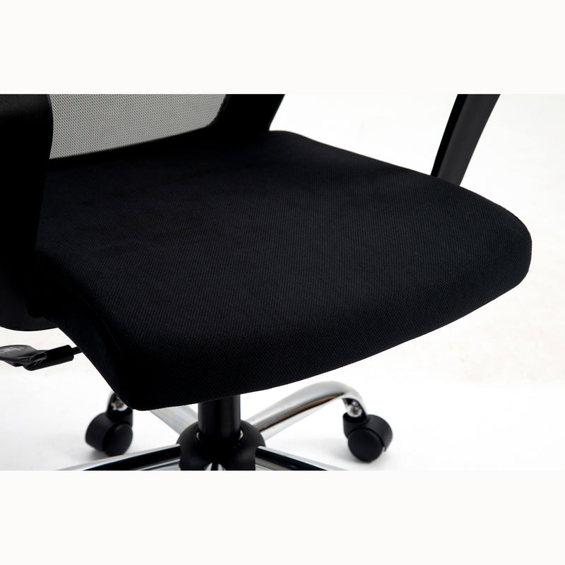 Haru Mid Back Mesh Office Chair in Black 7