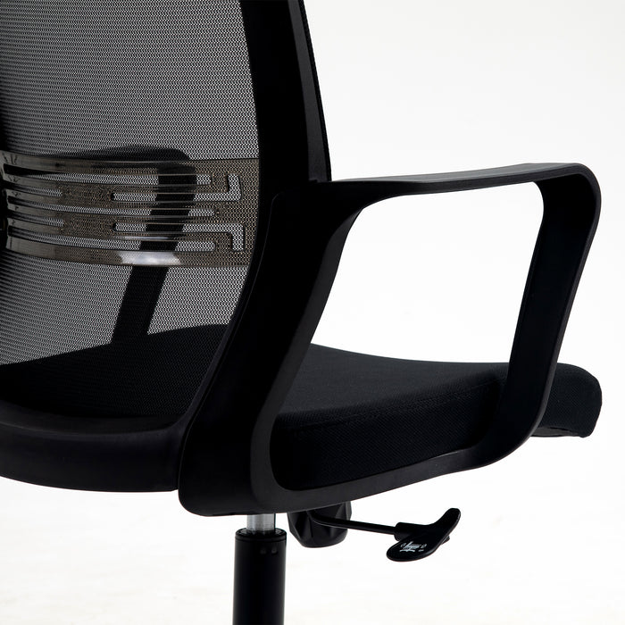 Haru Mid Back Mesh Office Chair in Black 8