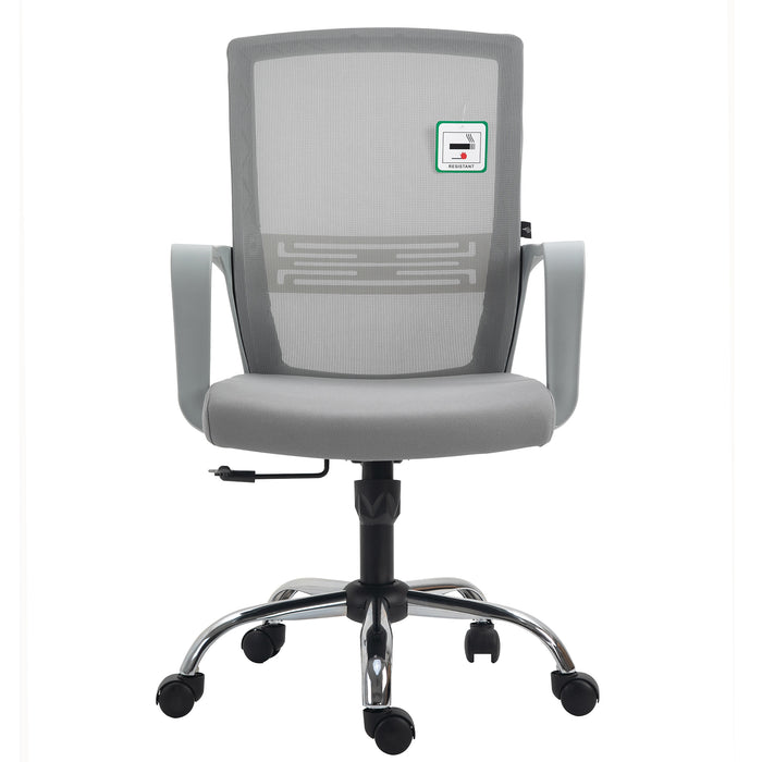 Haru Mid Back Mesh Office Chair in Grey 2