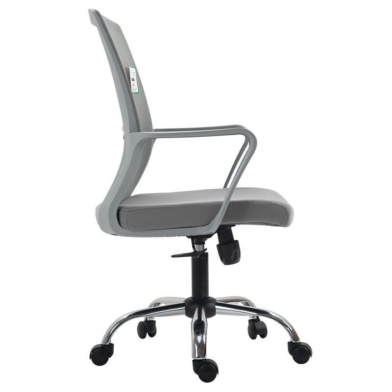 Haru Mid Back Mesh Office Chair in Grey 3