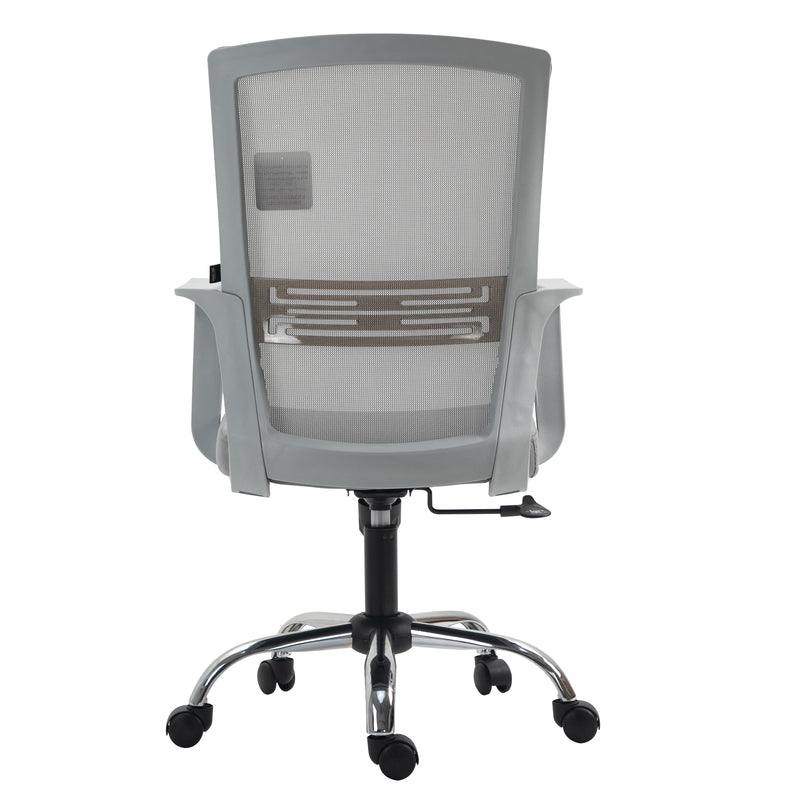 Haru Mid Back Mesh Office Chair in Grey 4