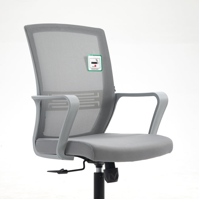 Haru Mid Back Mesh Office Chair in Grey 6
