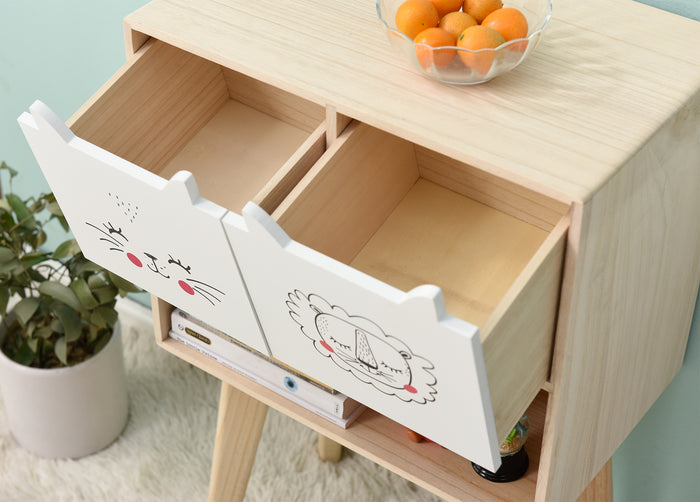 Lionhead 2 Drawer and 1 Shelf Childrens Bedroom Furniture FSC-Certified 5
