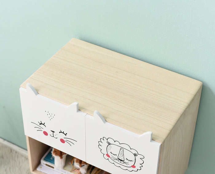 Lionhead 2 Drawer and 1 Shelf Childrens Bedroom Furniture FSC-Certified 6