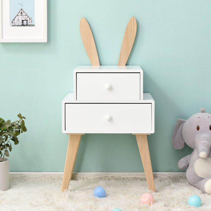 Bunny 2 Drawer Bedside Table FSC-Certified 2