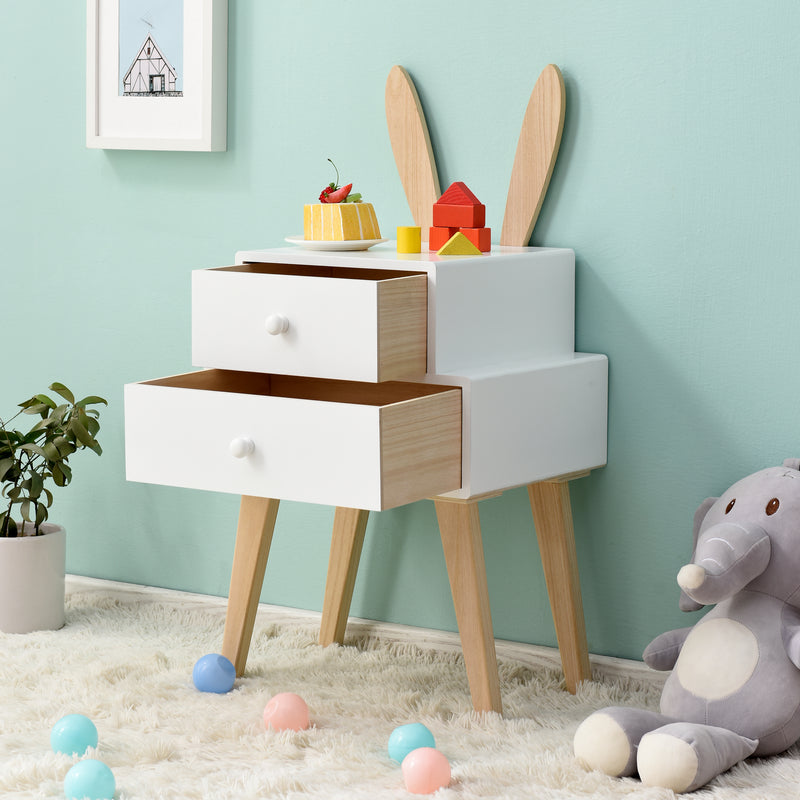 Bunny 2 Drawer Bedside Table FSC-Certified 3