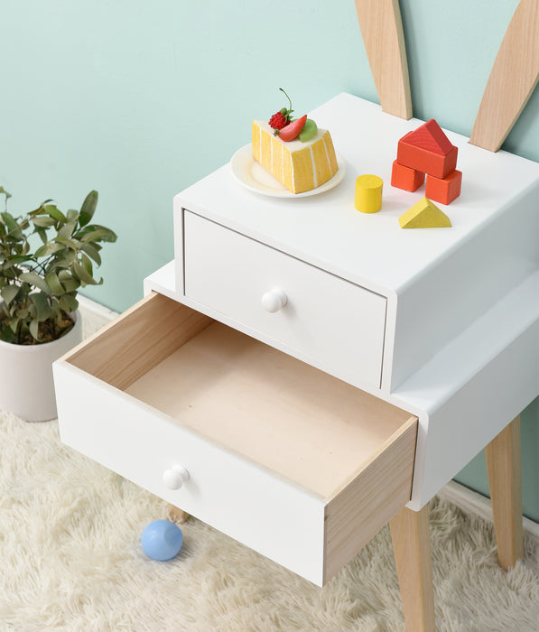 Bunny 2 Drawer Bedside Table FSC-Certified 6