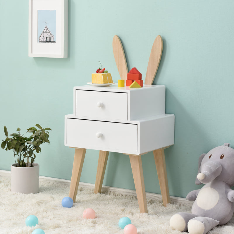 Bunny 2 Drawer Bedside Table FSC-Certified 1