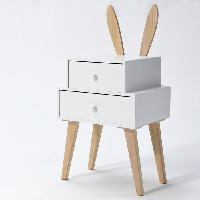 Bunny 2 Drawer Bedside Table FSC-Certified 4