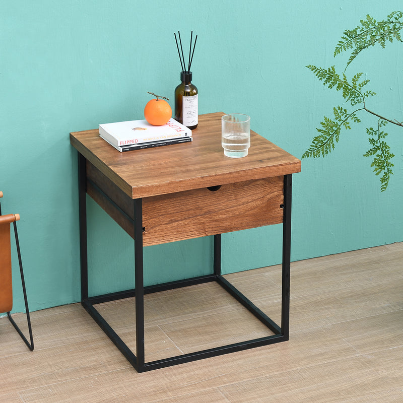 Tray Top 1 Drawer Wooden Side Table FSC Certified 2
