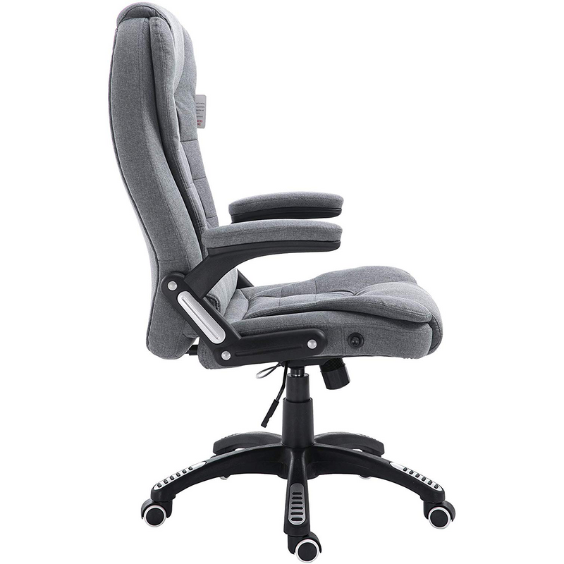 Cherry Tree Furniture Executive Recline Extra Padded Office Chair Standard, MO17 Grey Fabric