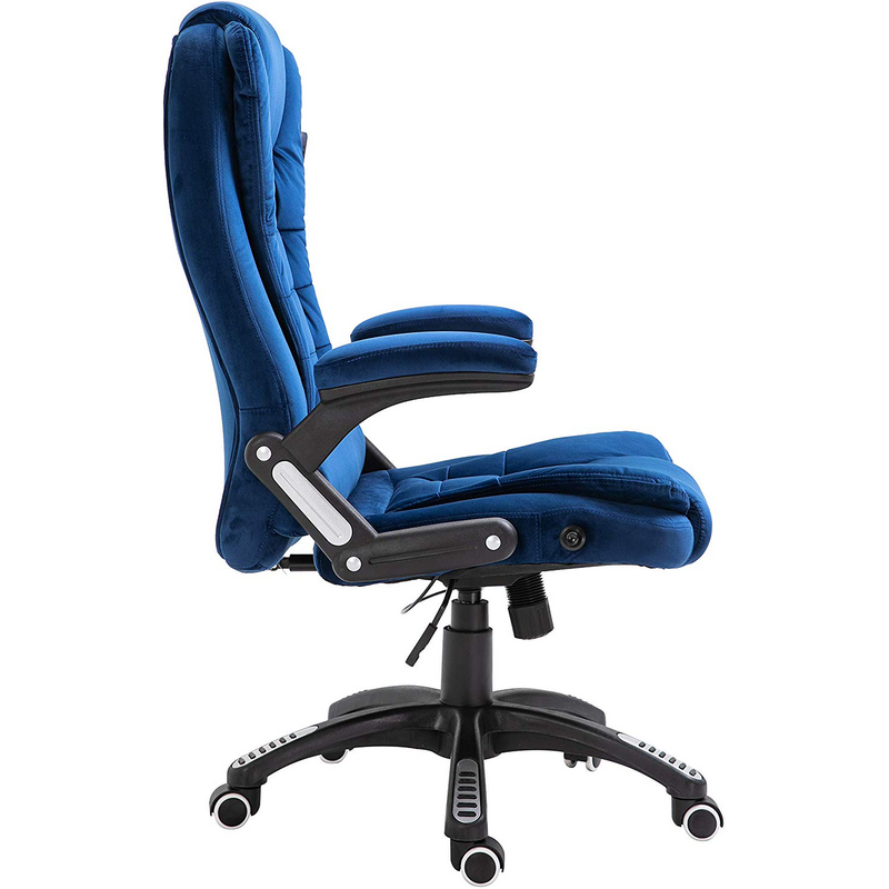 Cherry Tree Furniture Executive Recline Extra Padded Office Chair Standard, MO17 Blue Velvet