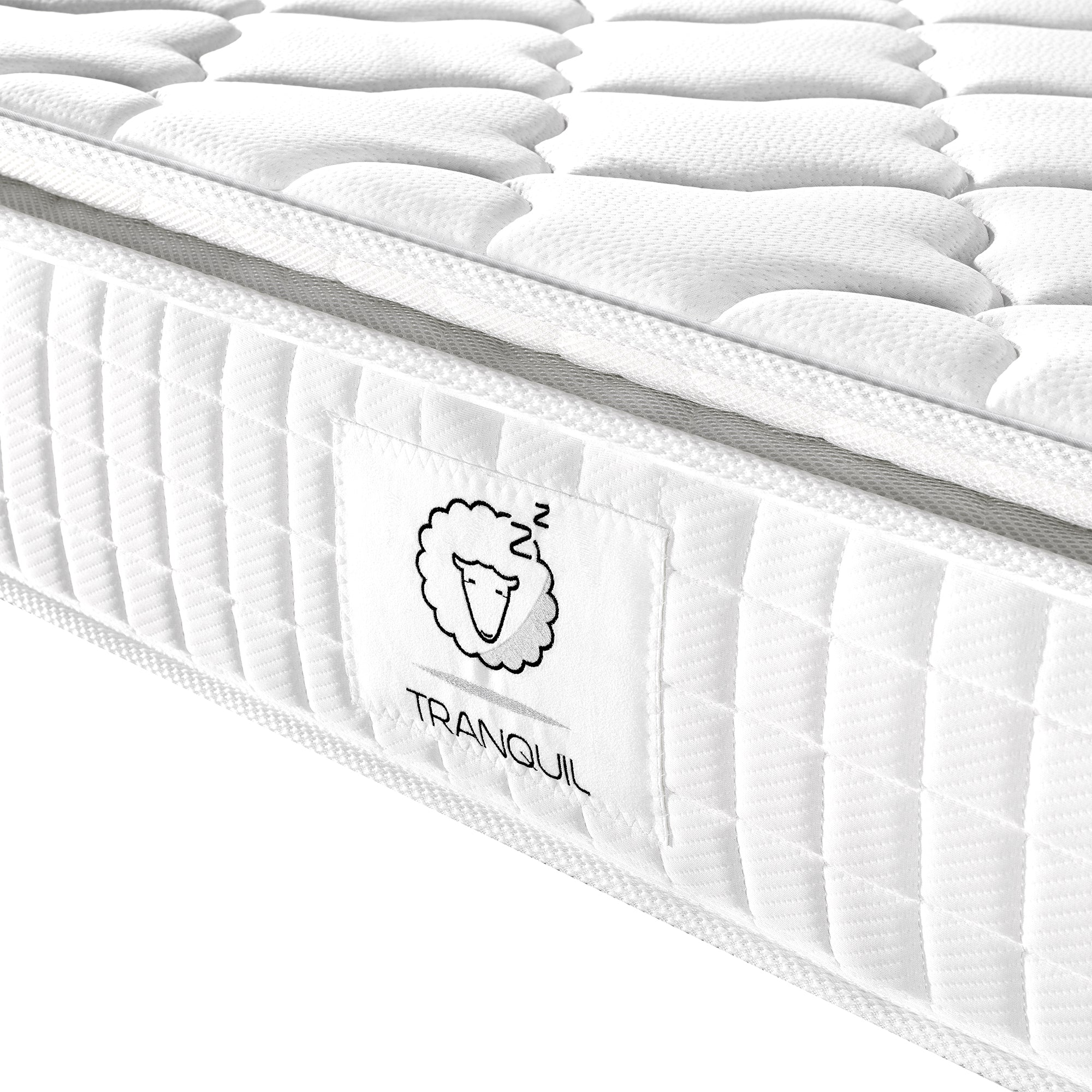 tranquil mattress tra 02 pillow top memory foam with 5 zone pocket springs