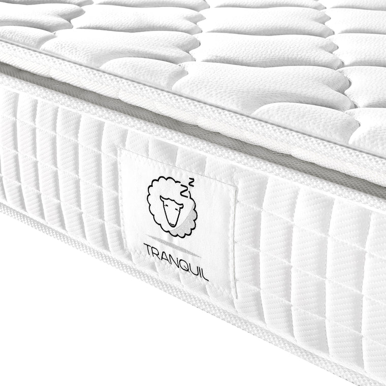 TRANQUIL Pillow-Top Memory Foam & 5-Zone Pocket Springs Mattress, TRA-02