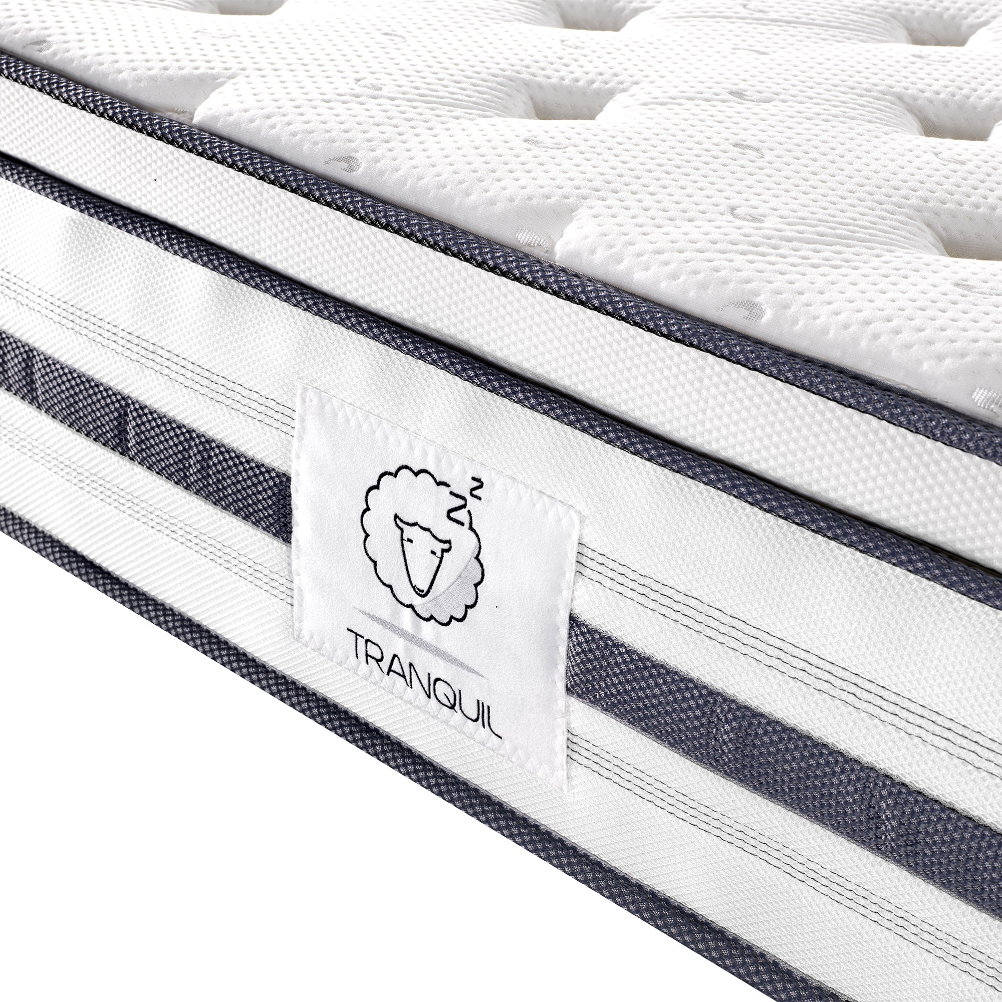 TRANQUIL Mattress TRA-03, Memory Foam, 7- Zone Pocket Springs with Euro Top