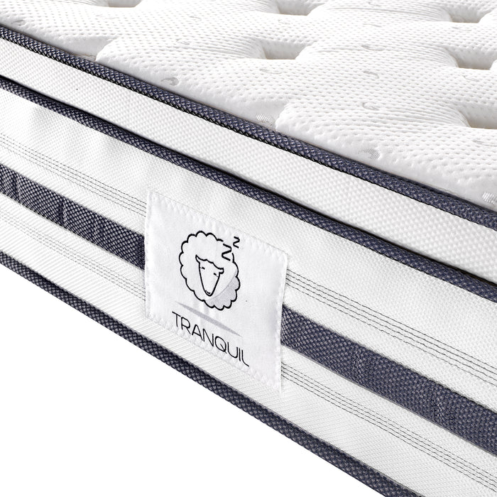 tranquil mattress tra 03 memory foam 7 zone pocket springs with euro top