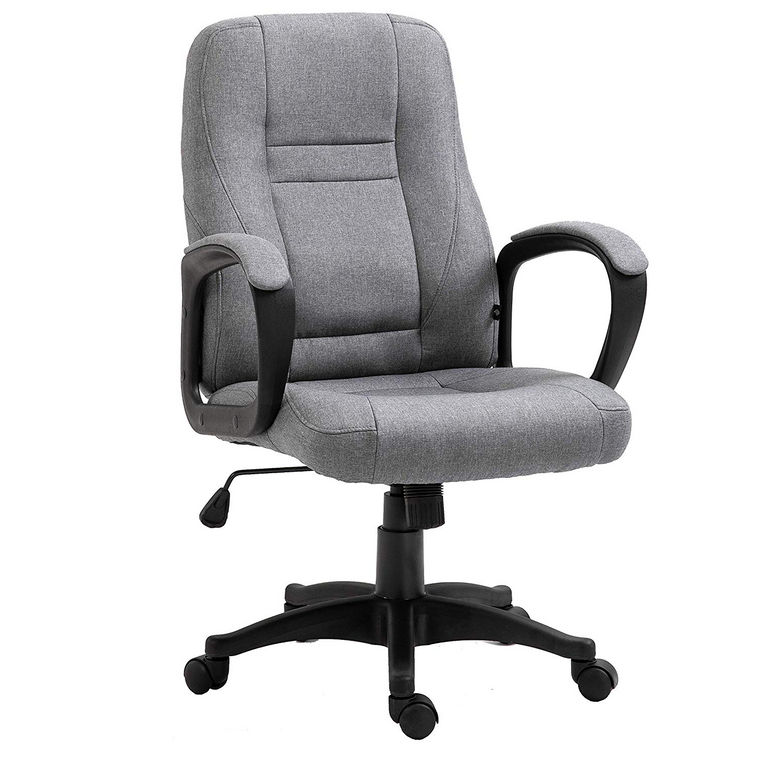 DaAls Swivel Office Desk Chair MO19 Grey Fabric