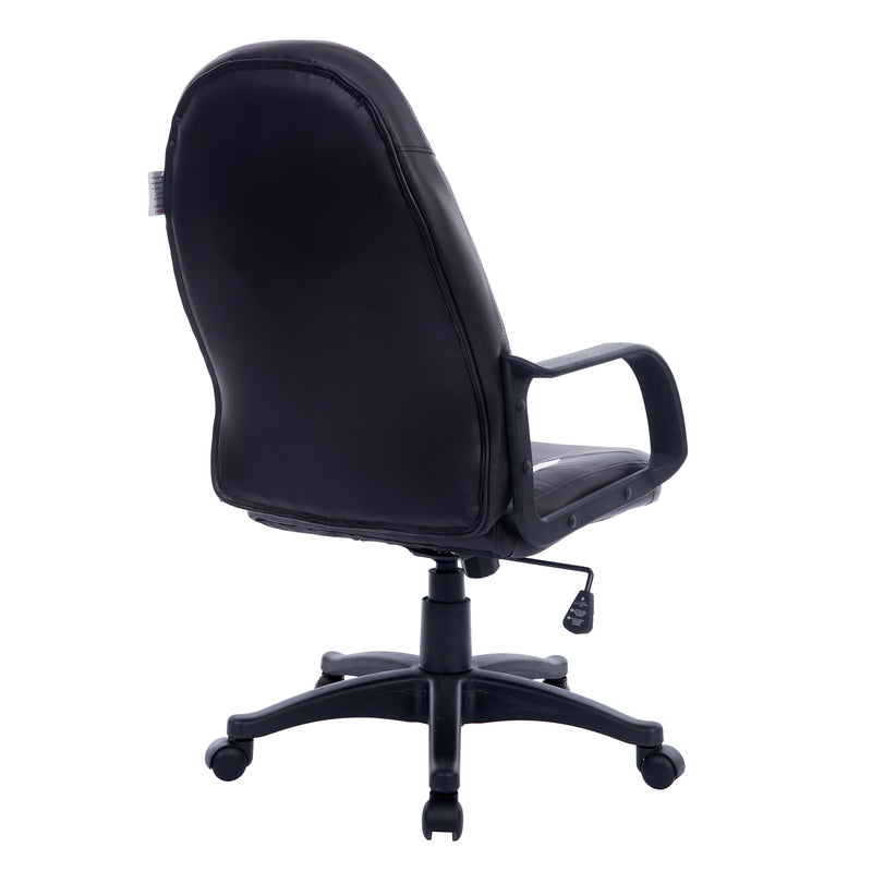 new design medium back pu leather swivel office chair black white
