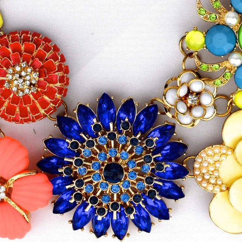 Flower Brooch Necklace, Moroccan lighting, Little Light Bazaar
