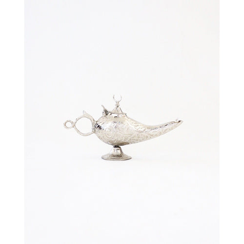 Genie Lamp - Silver Finish, Moroccan lighting, Little Light Bazaar