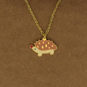 Hedgehog Necklace - Brown, Moroccan lighting, Little Light Bazaar