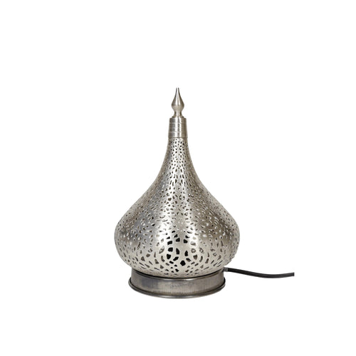 Luna Moroccan Table Lamp-Modern Moroccan-Little Light Bazaar-Silver-Little Light Bazaar