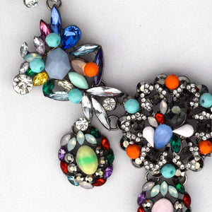 Multi Color Jewel Necklace-Accessories-George & Augie-Multi Color-Little Light Bazaar