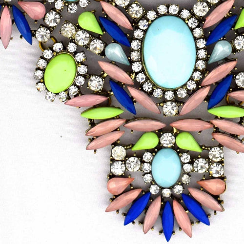 Neon Jewel Necklace-Accessories-George & Augie-Multi Color-Little Light Bazaar