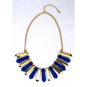 Pattern Necklace - Blue-Accessories-George & Augie-Blue-Little Light Bazaar
