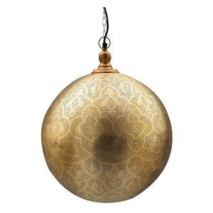 Shireen Etched Moroccan Pendant, Moroccan lighting, Little Light Bazaar
