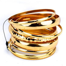 Simple Bangles Bracelet - Gold, Moroccan lighting, Little Light Bazaar