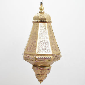 Sonali - Gold with Pink Inside, Moroccan lighting, Little Light Bazaar