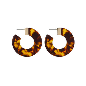 Leopard Acrylic Hoop Earrings