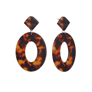 Leopard Acrylic Drop Earrings