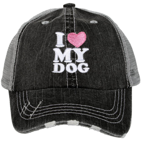 I Heart My Dog Trucker Hat