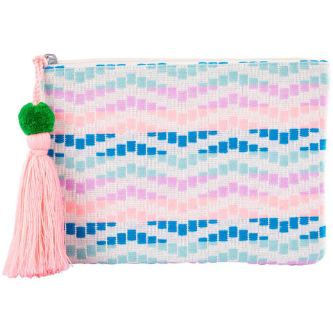 Pocketbook/Clutch Purse - Mint/Purple Wave
