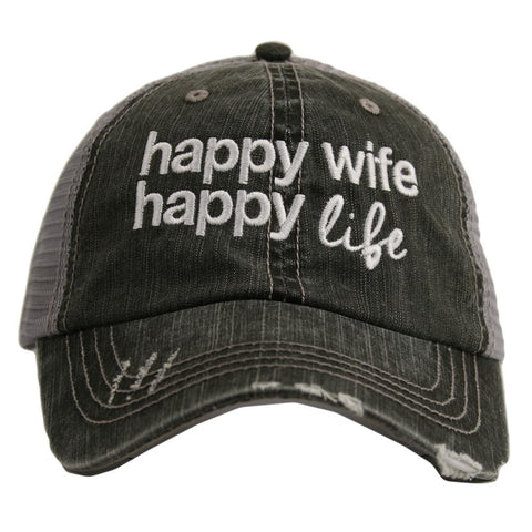 Happy Wife Happy Life Trucker Hats